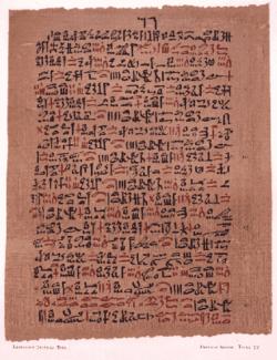 Escritura egipcia: Hierática